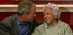 Chef Leah Chase with President George W. Bush Photo Courtesy of Dooky Chase's Restaurant