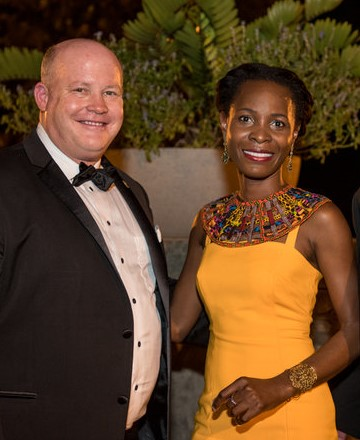 Christopher Ralston, The Pro Bono Project's Board Chair and Nadège Assalé at the 2018 Justice For All Ball.
