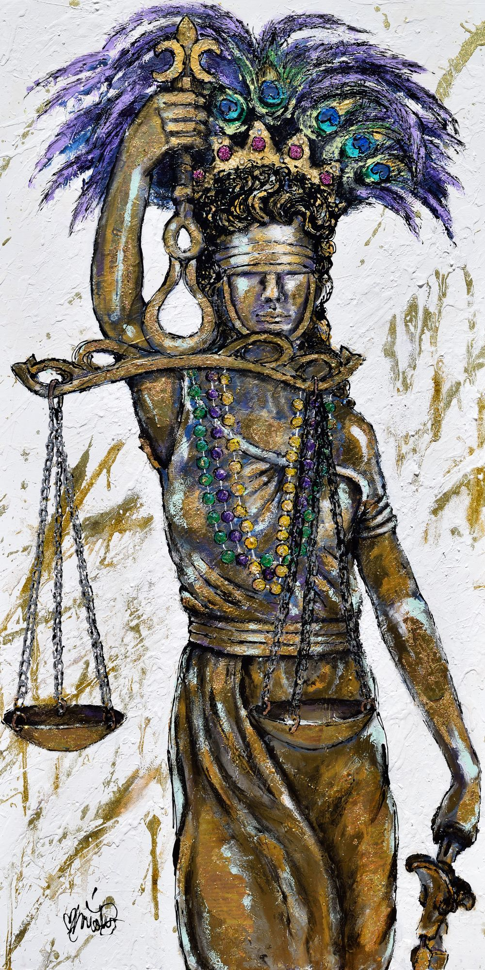 """""""Lady Justice"""" will be auctioned off at this year's 31st Annual Justice For All Ball."""