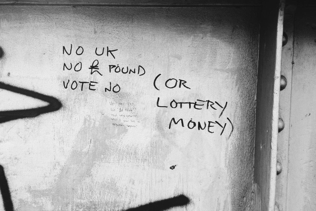 'No UK, No Pound, Vote No' - Bothwell Street, Edinburgh