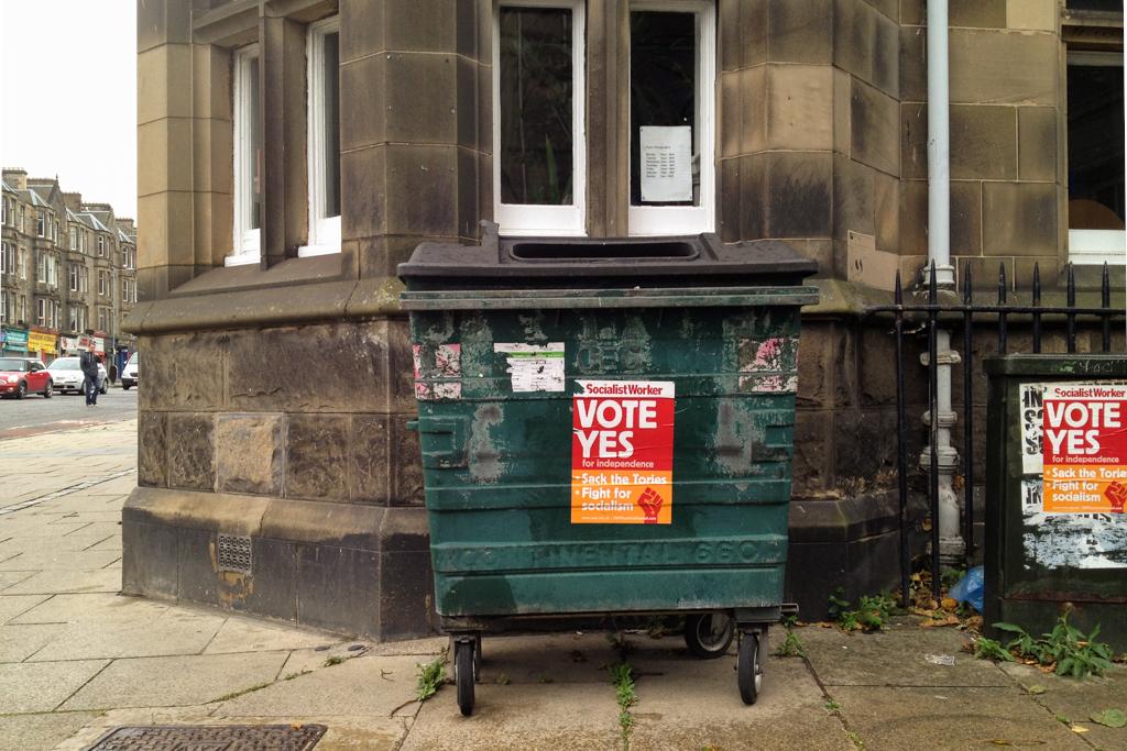 'Garbage?' - McDonald Road, Edinburgh
