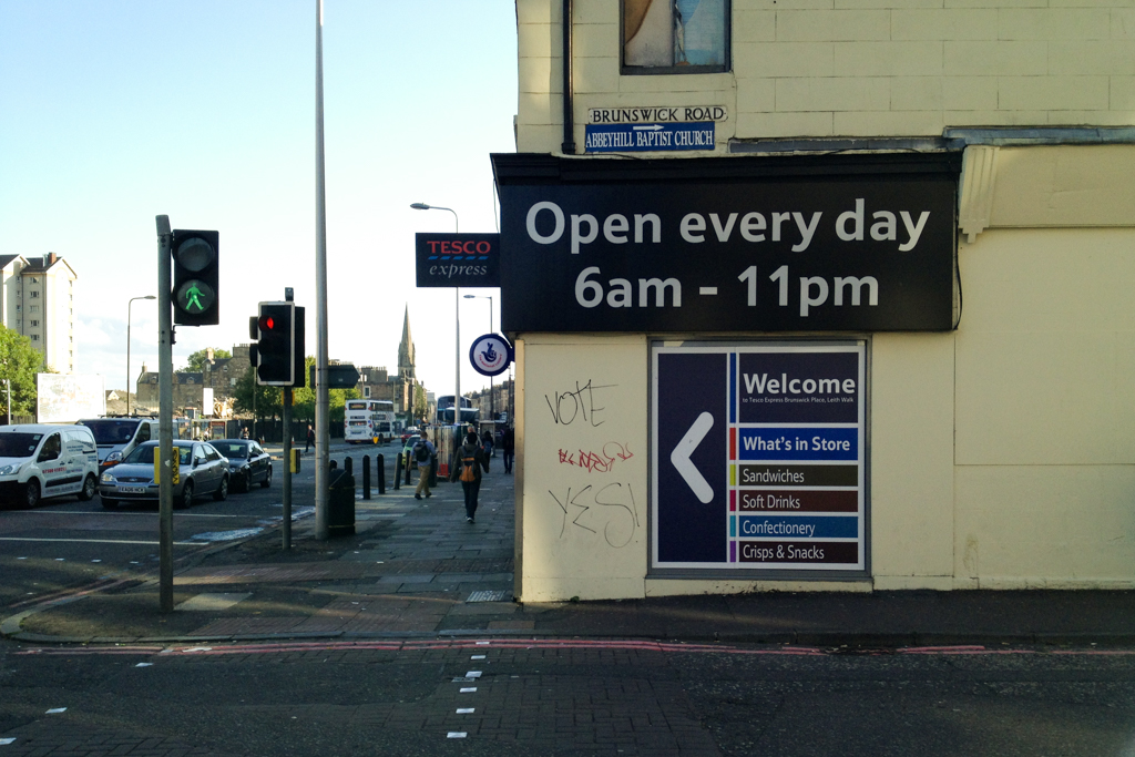 'What's in Store' - Brunswick Road, Edinburgh