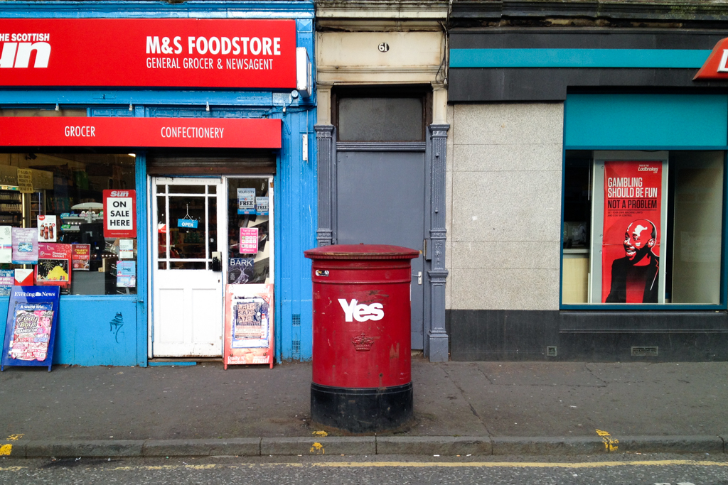 'The Postal Vote' - Easter Road, Edinburgh