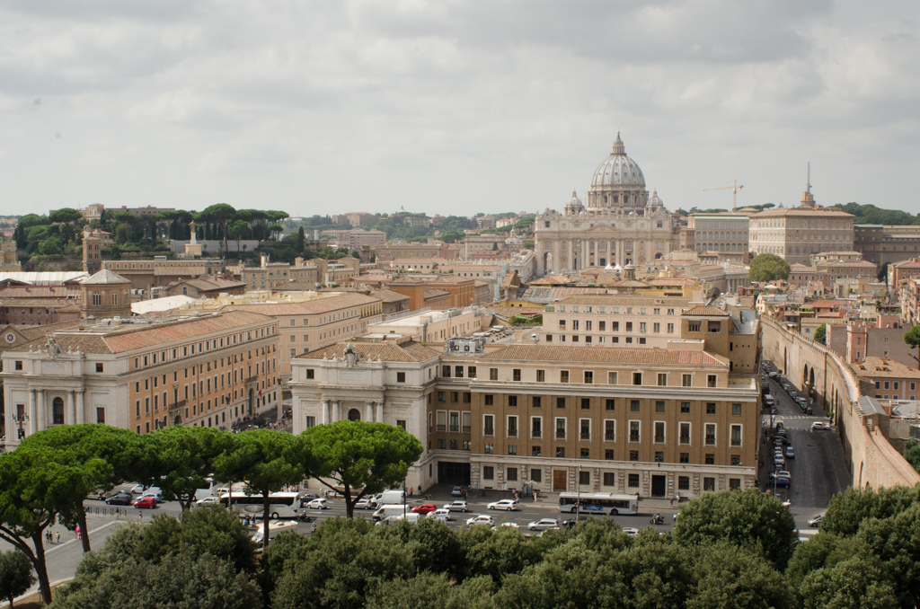 Rooftops to St Peter's - Rome, Italy