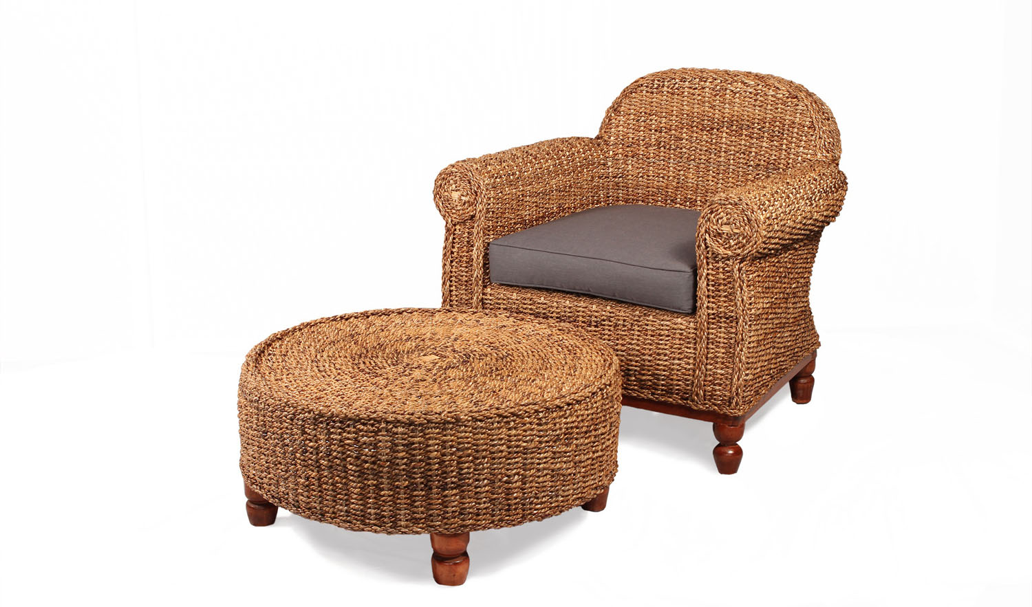 Copy of Rattan Conservatory Chair in Natural Banana Leaf