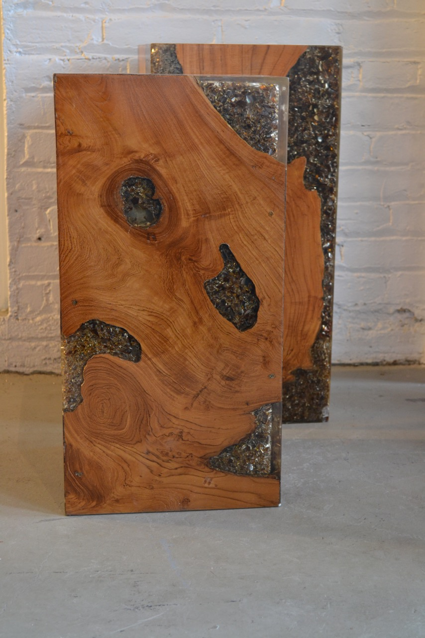 Copy of teak root and resin dining table