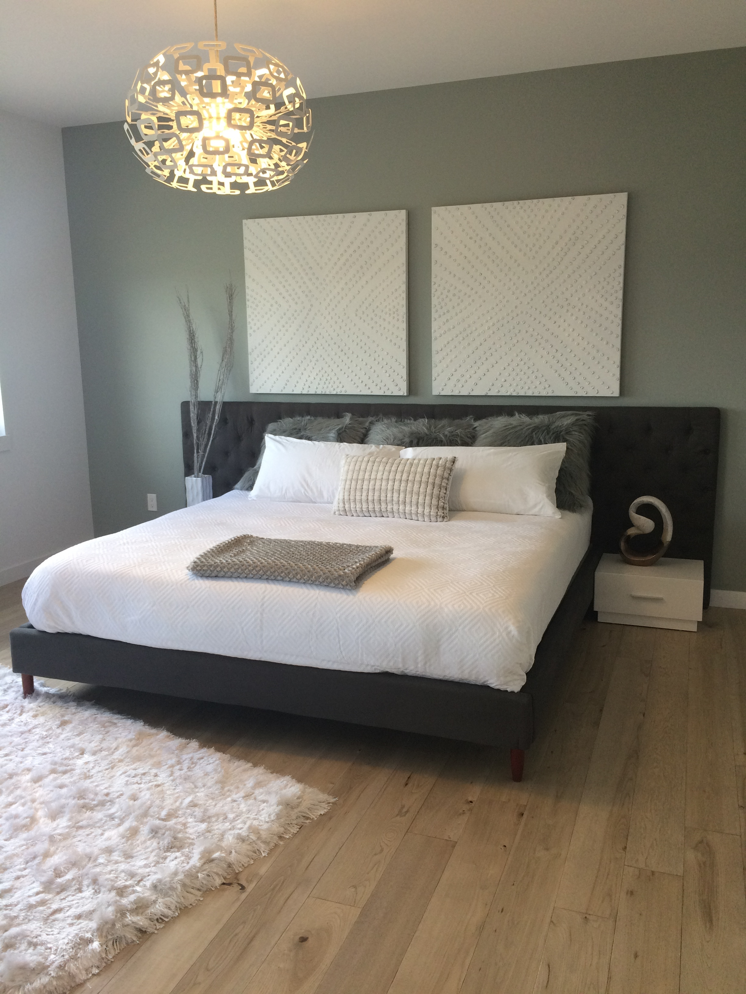The dreamy comfort of Blue Moon's bed featured in Artista's new Show Home in the 2016 Parade of Homes.
