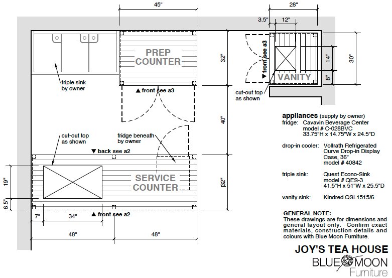furniture layout commercial space