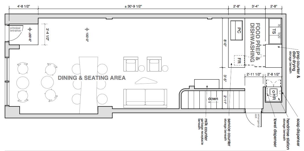 floor plan and built in custom furniture