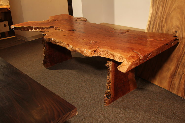Copy of exotic lychee wood live edge dining table