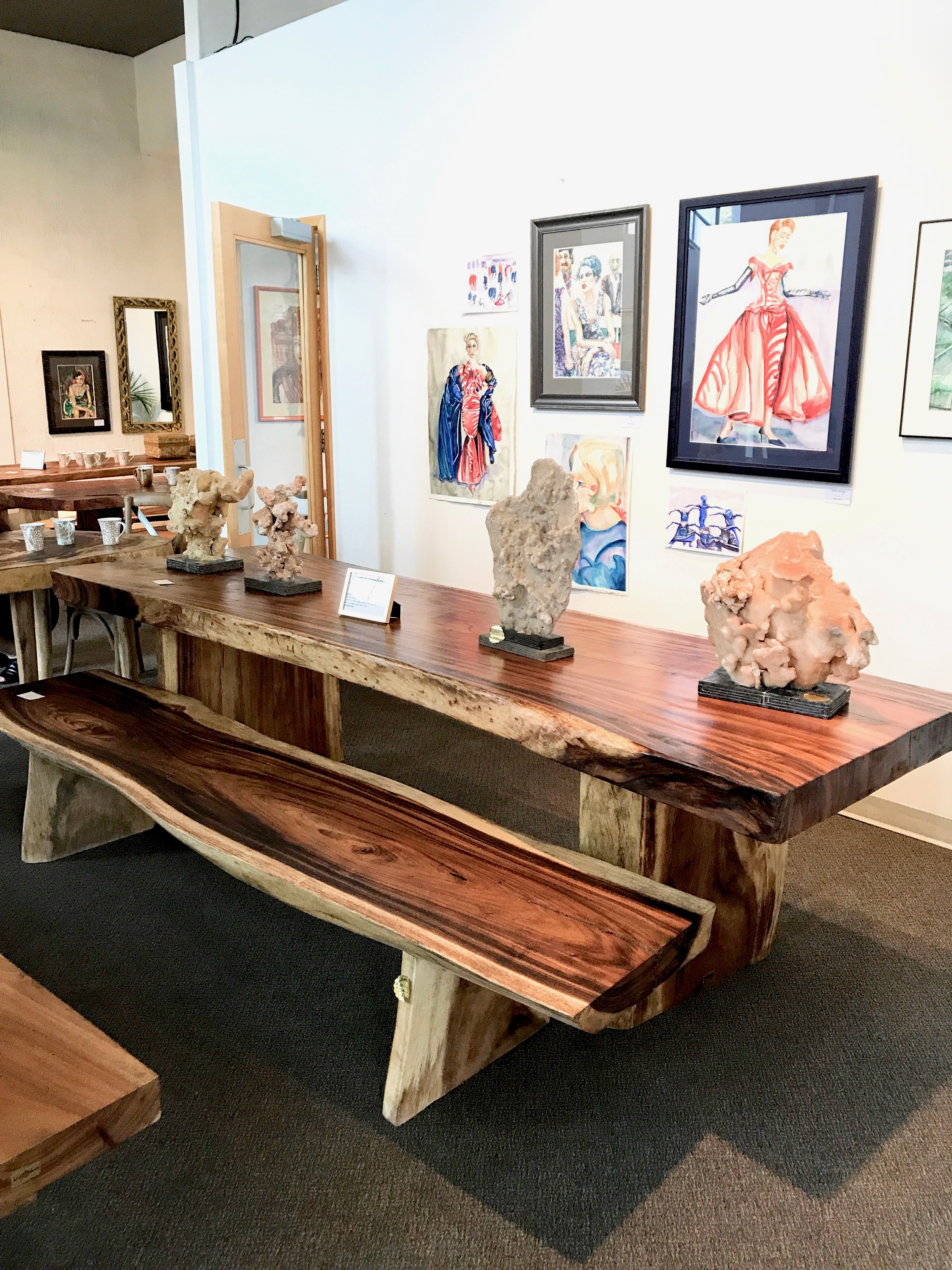Majestic Live Edge DIning table. Single slab wood dining table. Blue Moon Furniture Store, Winnipeg, Manitoba, Canada. Modern, Contemporary cool luxury furniture. Local design,2.jpg
