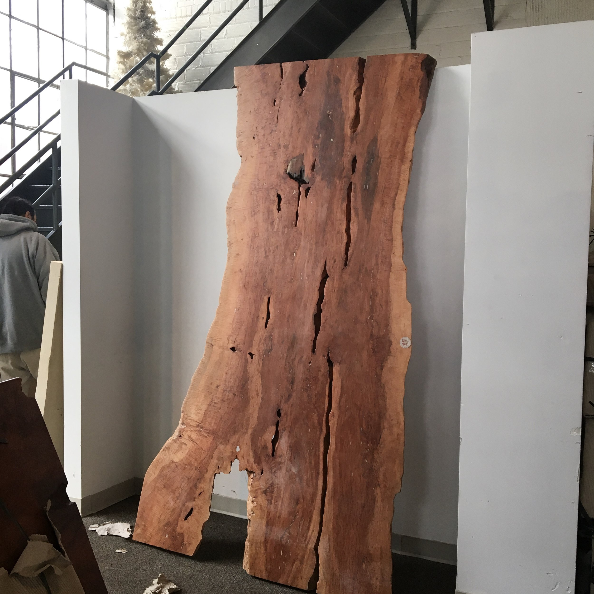 Exotic Lychee wood live edge dining table top.
