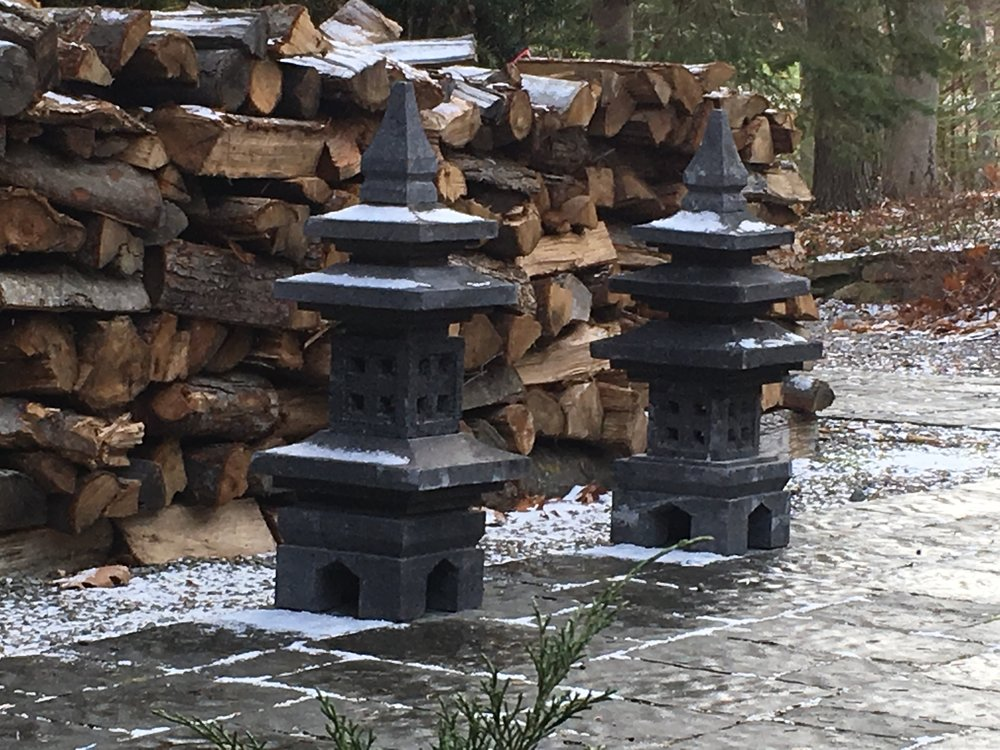 Copy of hand carved lava stone outdoor garden statues