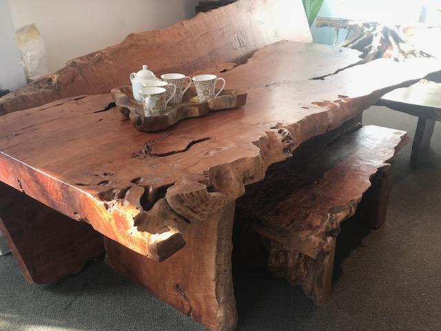 exotic lychee wood live edge dining table in winnipeg.jpg