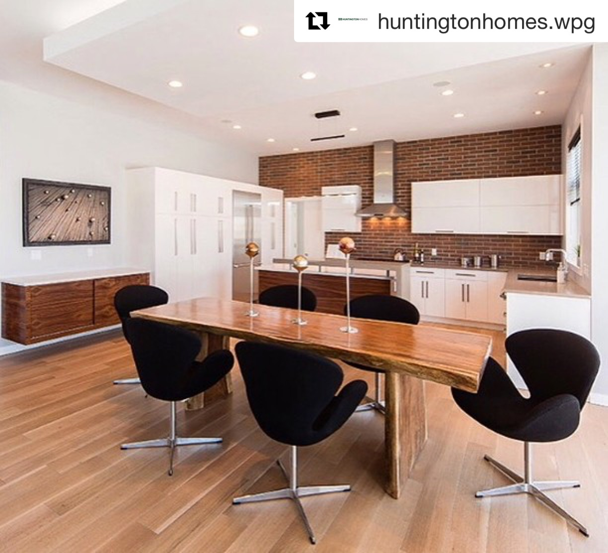 hungtinton show home furniture. Blue Moon furnitures store in winnipeg. Majestic live edge dining table.JPG