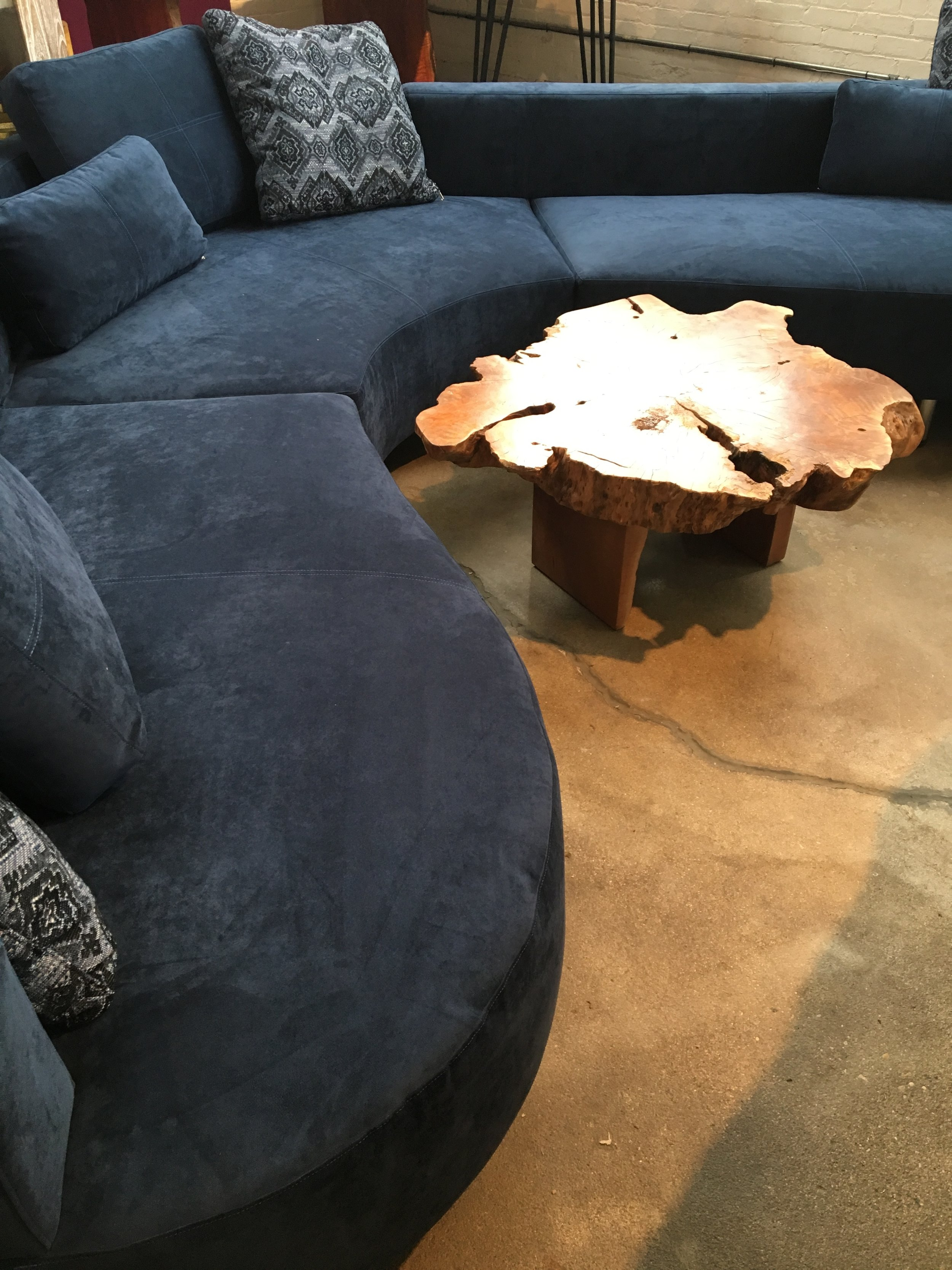 Cocoon 2, sumptuous coloured velvet sectional. Curvy sectional. Blue Moon Furniture.JPG