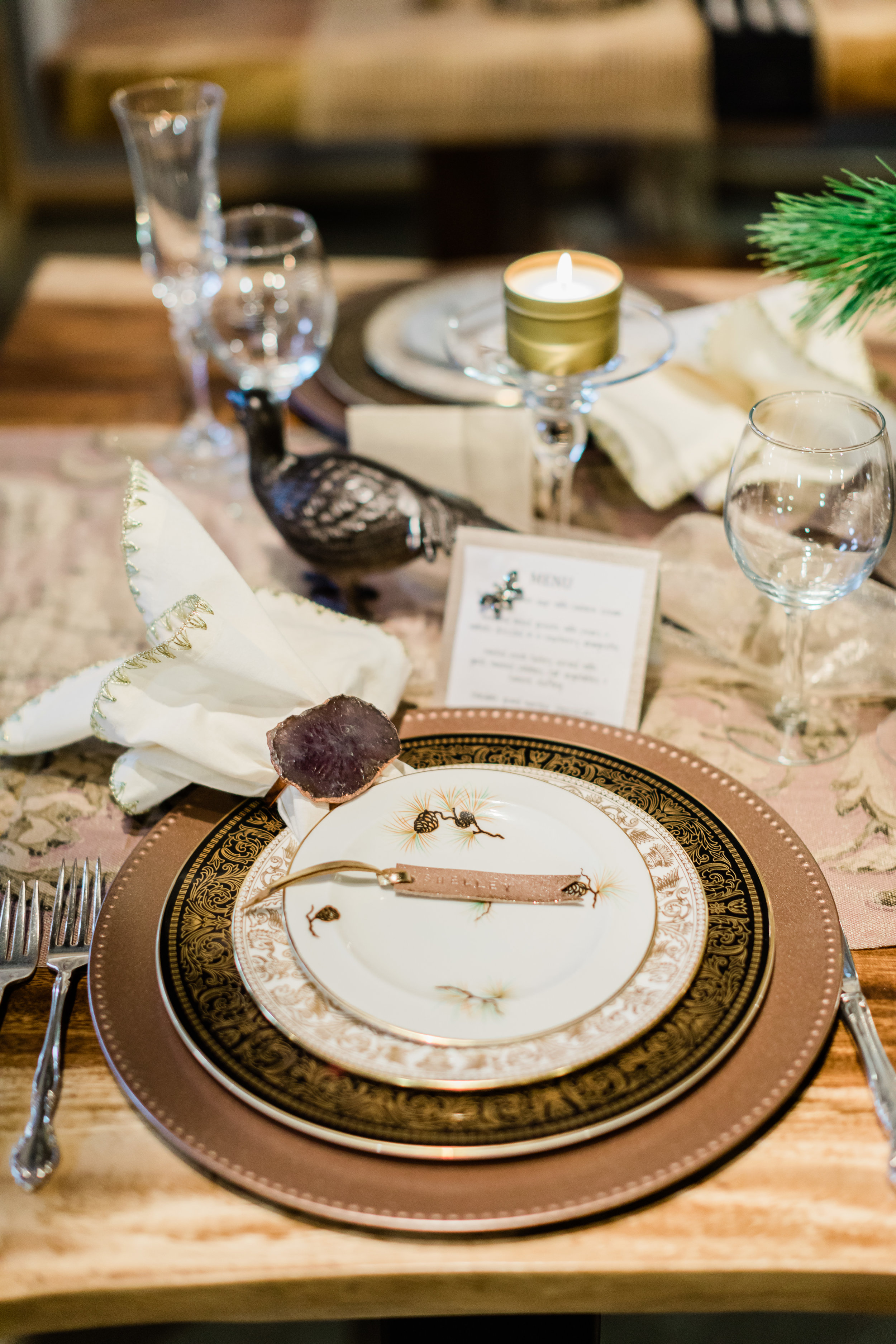 place setting on a live edge dining table. 2018-11-29_BlueMoonFurnitureTableStories144.jpg
