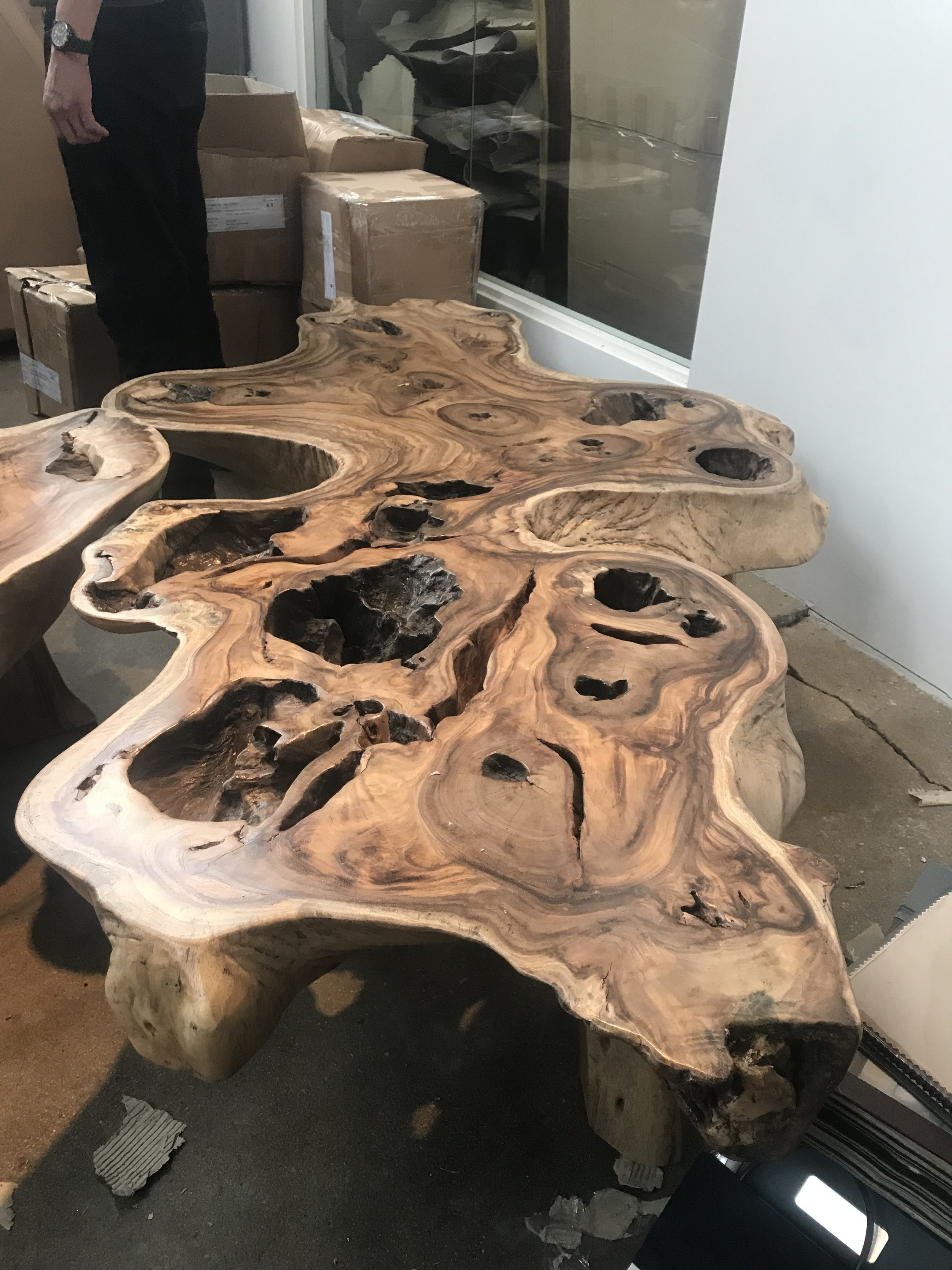 The most beautiful coffee table in all of existence. Majestic Single Slab coffee table.