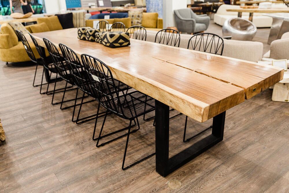 Majestic Live Edge Dining Tables Majestic Live Edge Dining Table Blue Moon Furniture