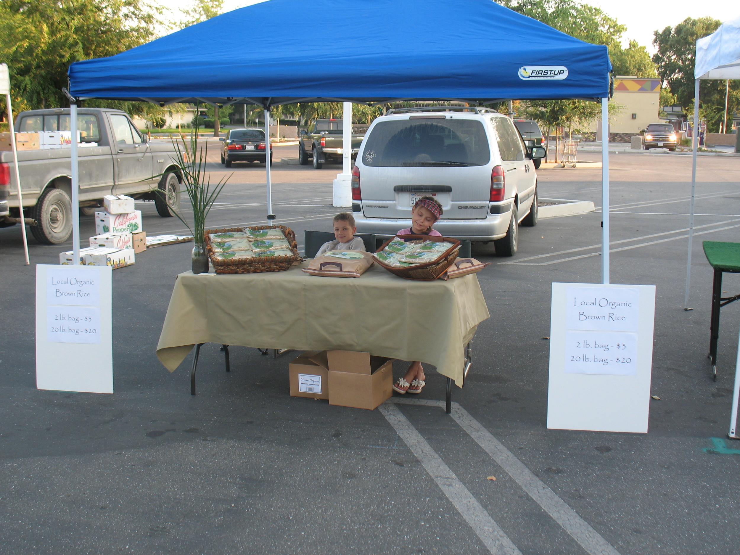 Our very first farmers' market stand!