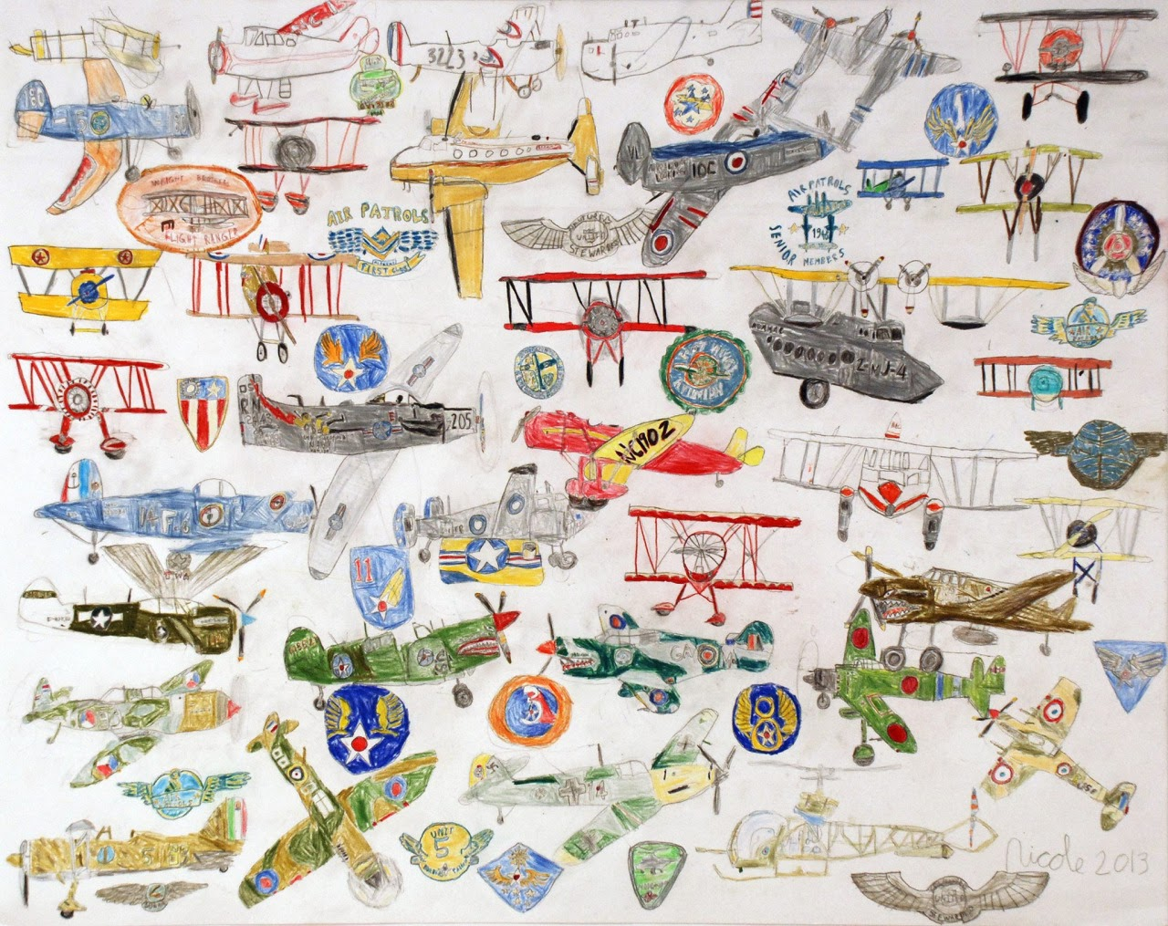 Vintage Airplanes    2013   Pencil on Paper   19x24