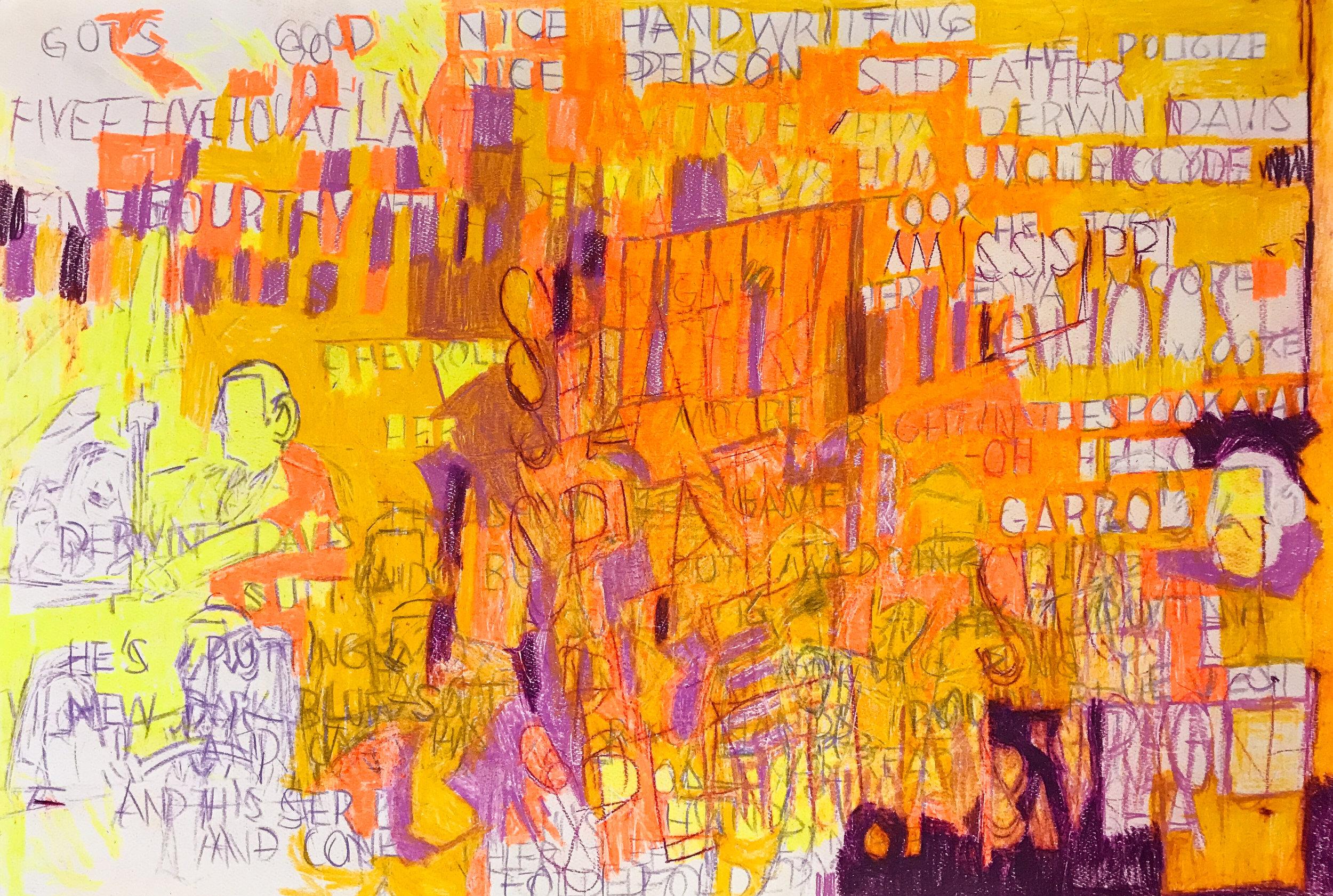 Garrol Gayden  Untitled  (2017) Pencil on paper