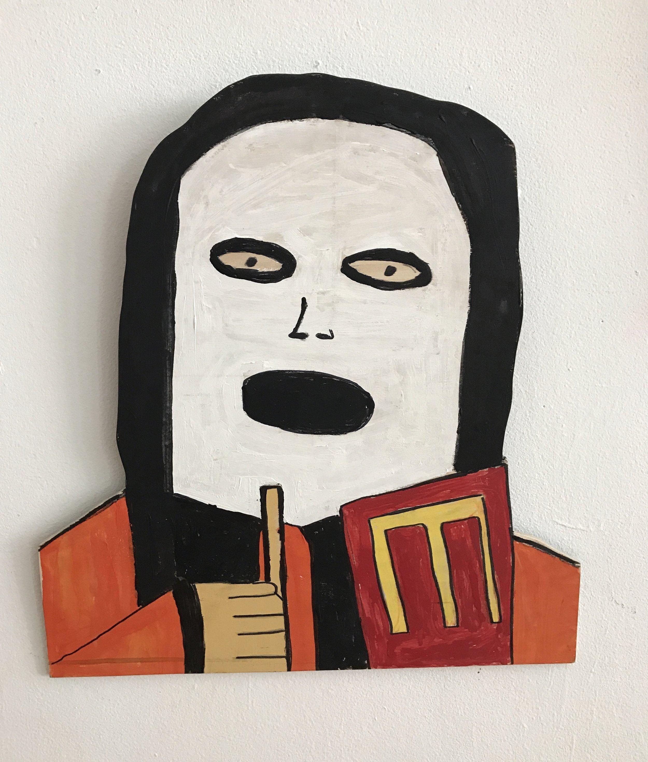 Michael Pellew Marilyn Manson 2017 Acrylic on wood