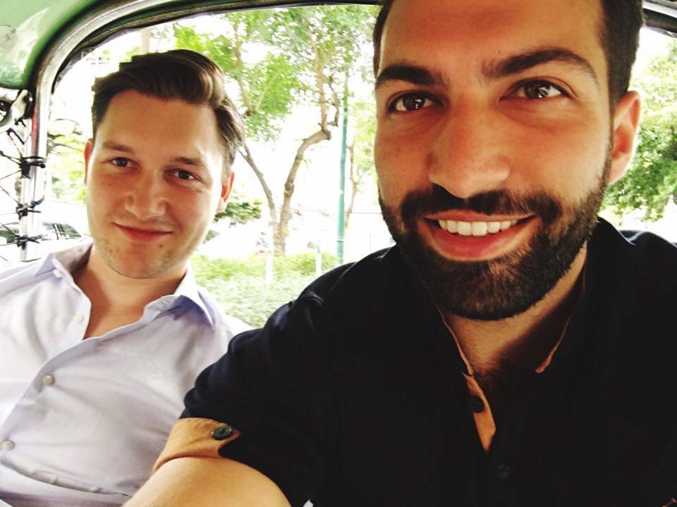 Max and I in a Tuk Tuk in Bangkok