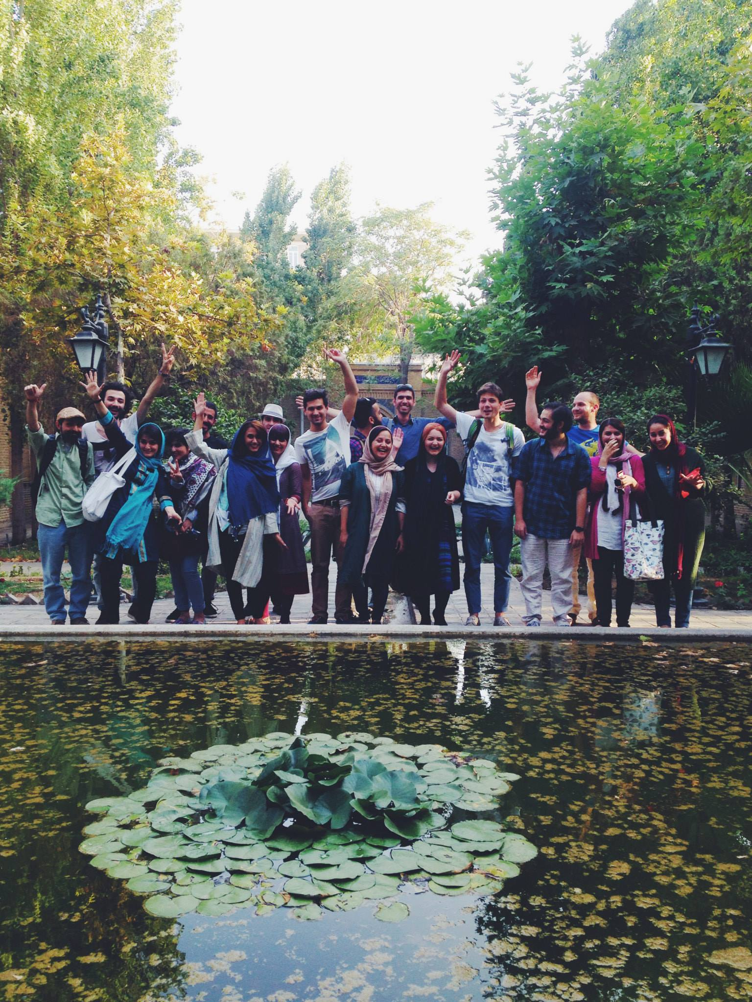 Part of the group of young people that came to see our during our first day in Tehran in August of 2014