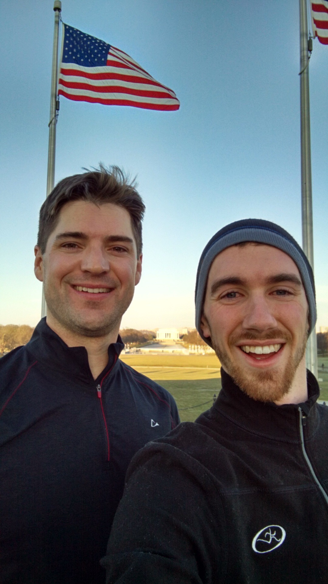 Dr. Brendan McCann and host, Nathan Cashion, enjoy a run along the Washington Mall after an exhausting week at NCLC.