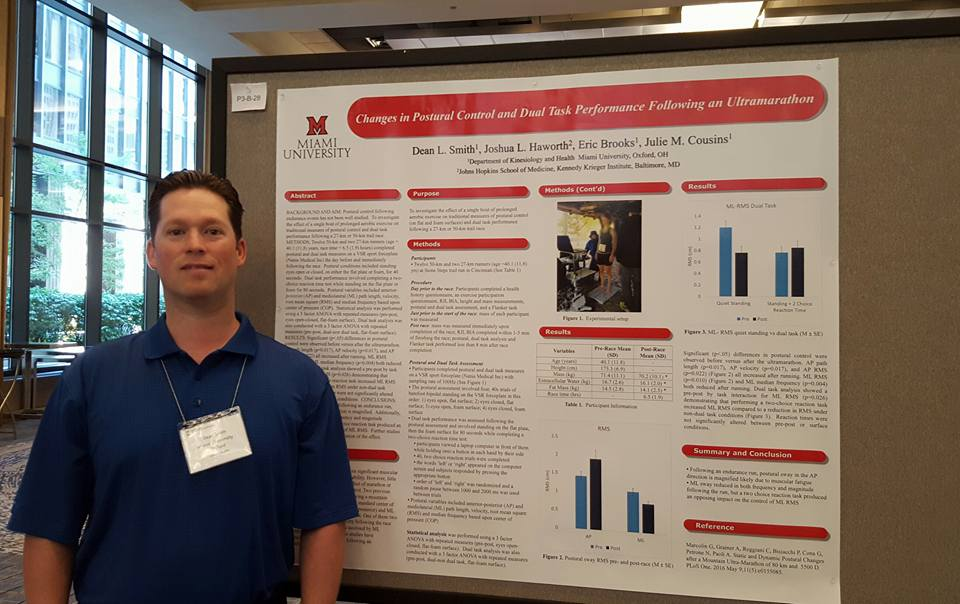 Dr. Dean Smith presenting research at the International Society of Electromyography and Kinesiology, Chicago, Ill, July, 2016.