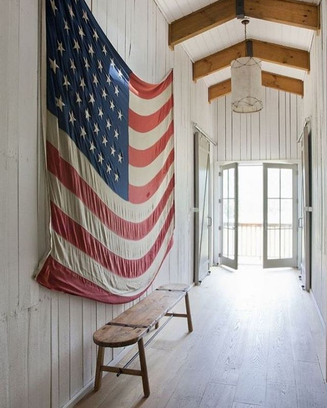 We hope you have a wonderful 4th with your family and friends.  Vintage flag by @rachelhalvorson