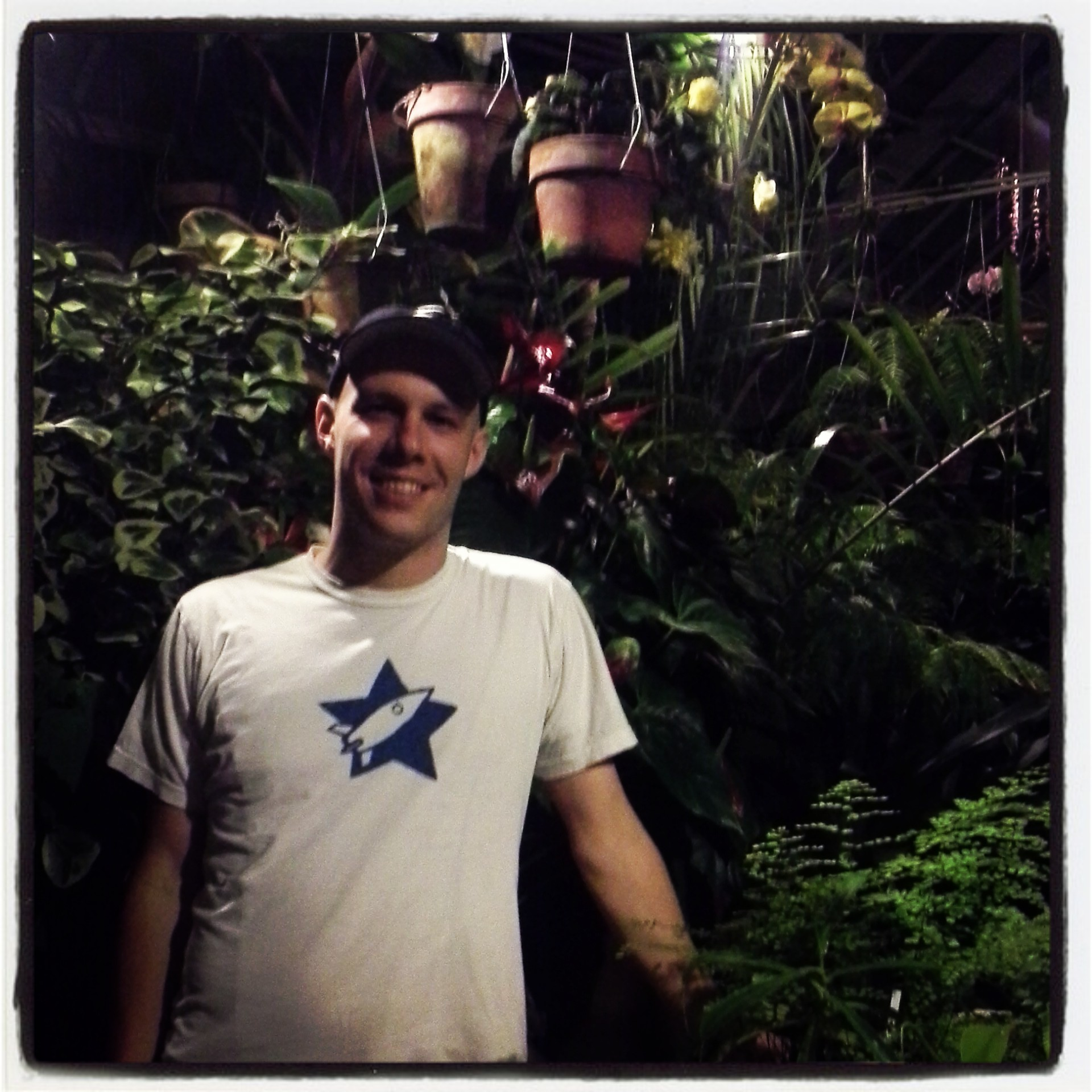 I visited the conservatory of flowers with Leonard Crosby.