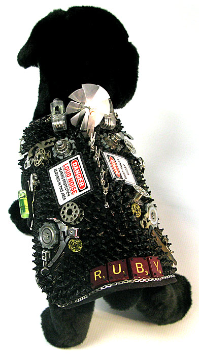 Top view of Ruby's Steampunk Vest by Carol Perrenoud