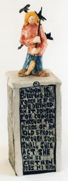 Clay Sculpture, Jane Kaufman