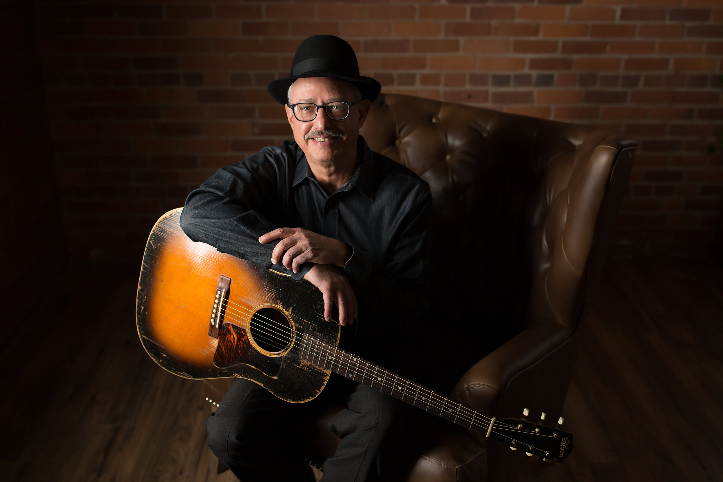 Tom Horsky of Boxborough, a great fingerpicking-style guitarist!