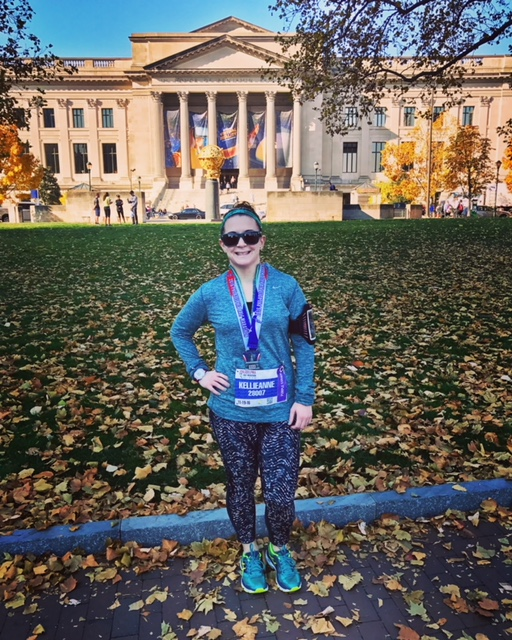 Kellie-Anne | Dog Runner | Washington DC   2-Time Marathoner, 17-time Half-Marathon Finisher  The College of New Jersey - English  American University - Health Promotion Management, M.S.  KellieAnne is currently one third of the way through her goal of running a Half-Marathon in every state (plus DC!). When she is not running or planning a racecation, KA enjoys reading, Law & Order SVU marathons, and exploring DC.