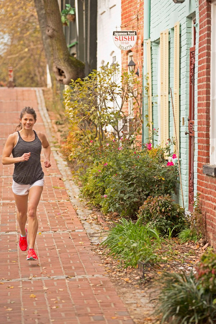 Kayla | Dog Runner | Maryland   Full Marathon Finisher & 2-Time 1/2 Marathon Finisher  3-Time Olympic Distance Triathlon Finisher  George Washington University - Exercise Science, Strength & Conditioning. M.S.  Raised in the Grand Canyon state where she picked up a passion for running and multi-sport racing, Kayla is deaf, loves the outdoors and never goes a day without peanut butter. When she's not out pounding the pavement and trails, you can find her throwing barbells around and dishing about Power Supply meals on Instagram at  @fitnesssealed .
