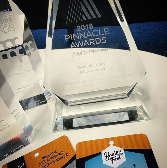 What a night at the AMA Pinnacle Awards! A silver for @boulterindustrial and their campaign for BoulterFest! #resultsrule #forgeinspiration #forgeideas