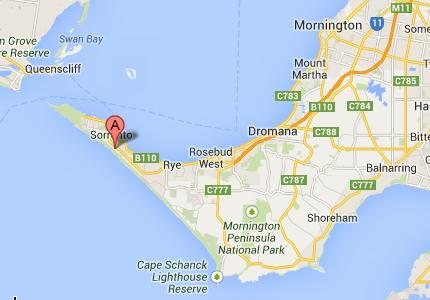 Location of Diamond Bay