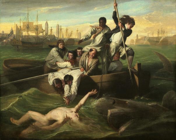 'Watson and the Shark'by John Singleton Copley,  1778.