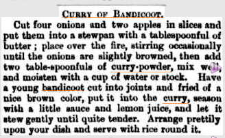 An early-settler's staple. Source: National Library of Australia.