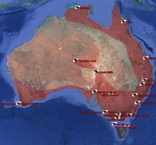 The former range of the Tasmanian devil. Source: Rewilding Australia
