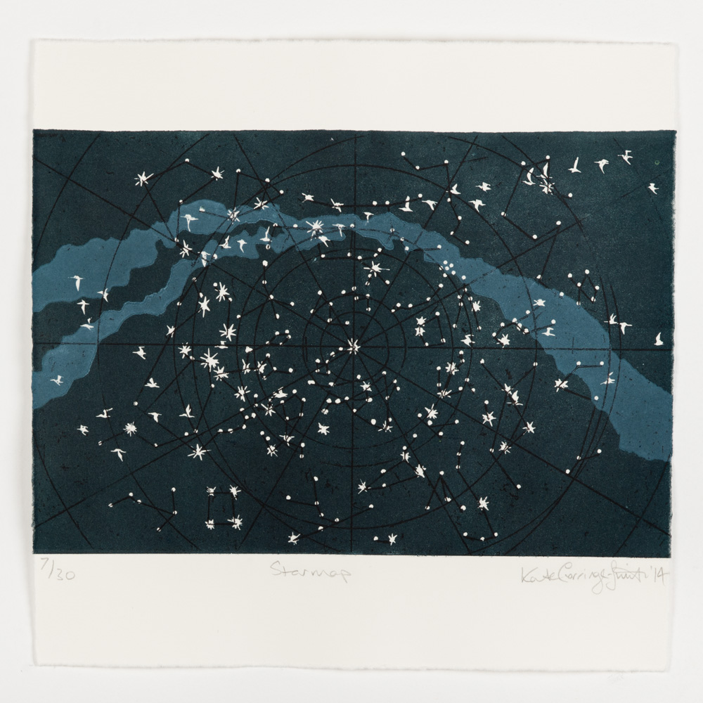 Starmap - Kate Gorringe-Smith  This piece of Kate's is just one of many artworks featured on  The   Flyway Print Exchange  .