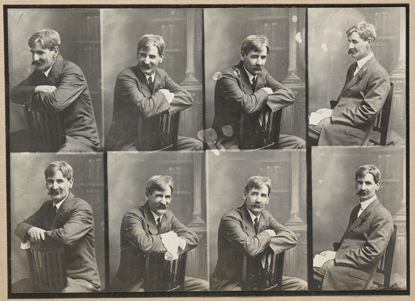 The many faces of poet Henry Lawson.  Image: State Library of New South Wales / Wikimedia Commons