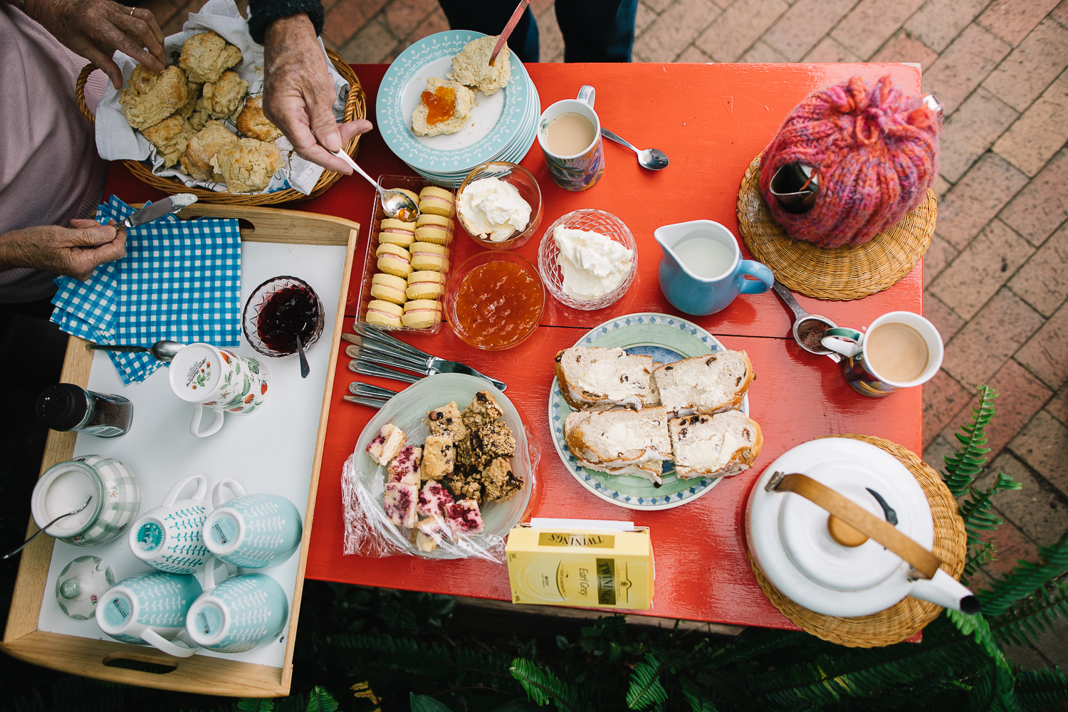 A typical Landcare morning tea feast prepared by the Merriman Creek Landcare Group.   Image:Andrew Northover