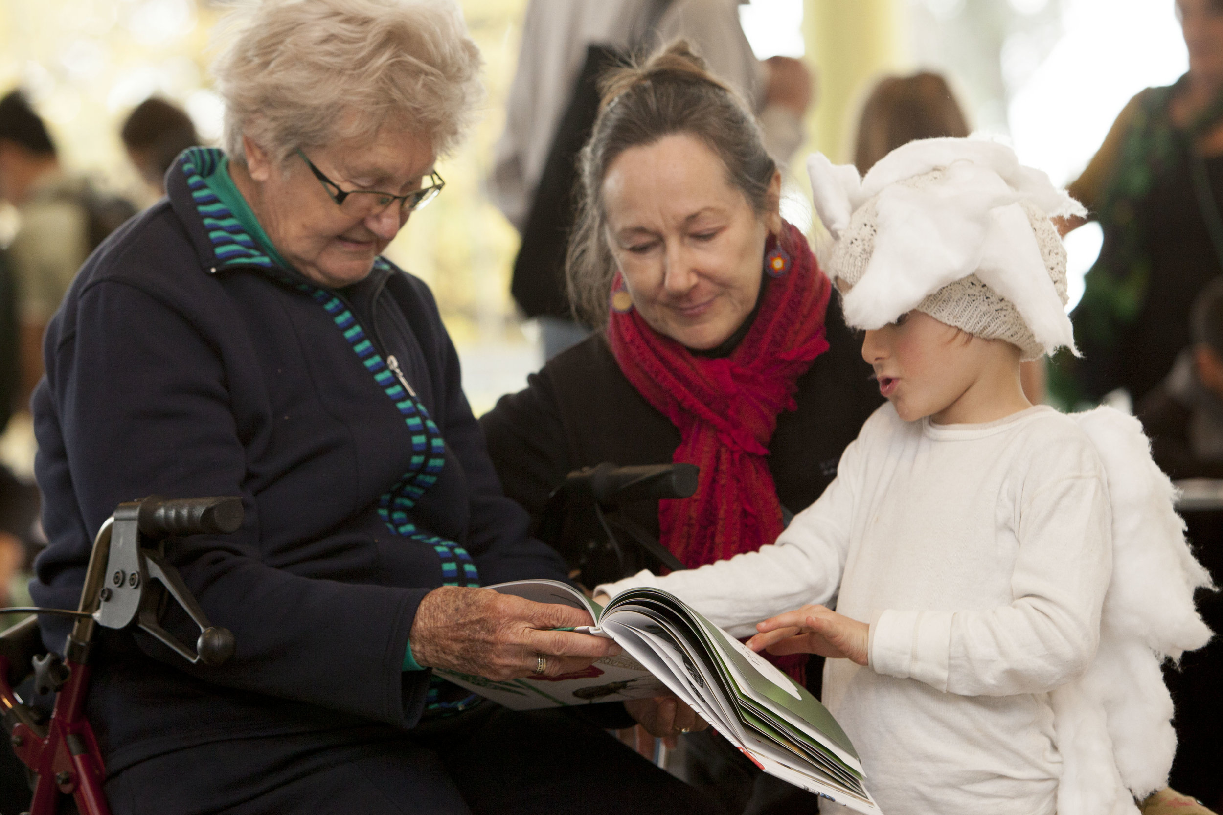 This unique book will hopefully allow both children and adults to engage with the insects around our city, enhancing the public's appreciation of the biodiversity that makes Melbourne special. Co-author Sarah Bekessy's son is pictured here dressed as a 'fluffy bum' (the nymph stage of the Passionvine Planthopper) at the book launch. Image: Sarah Bekessy