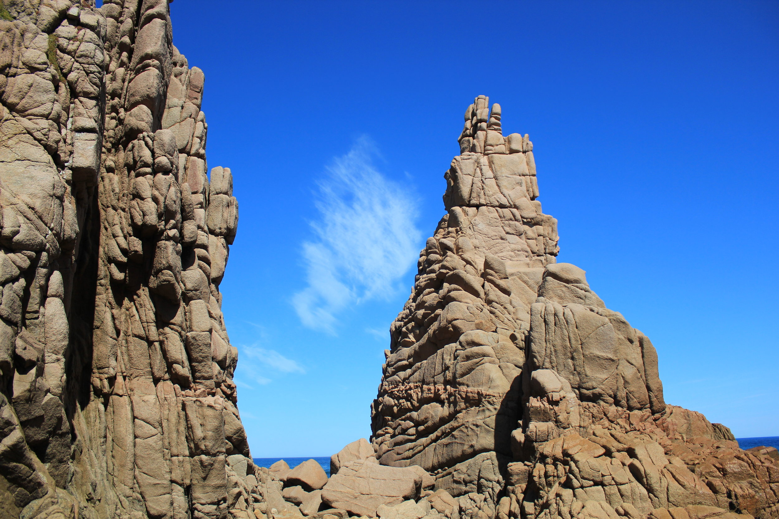 The Pinnacles from the shore.  Image: Elodie Camprasse