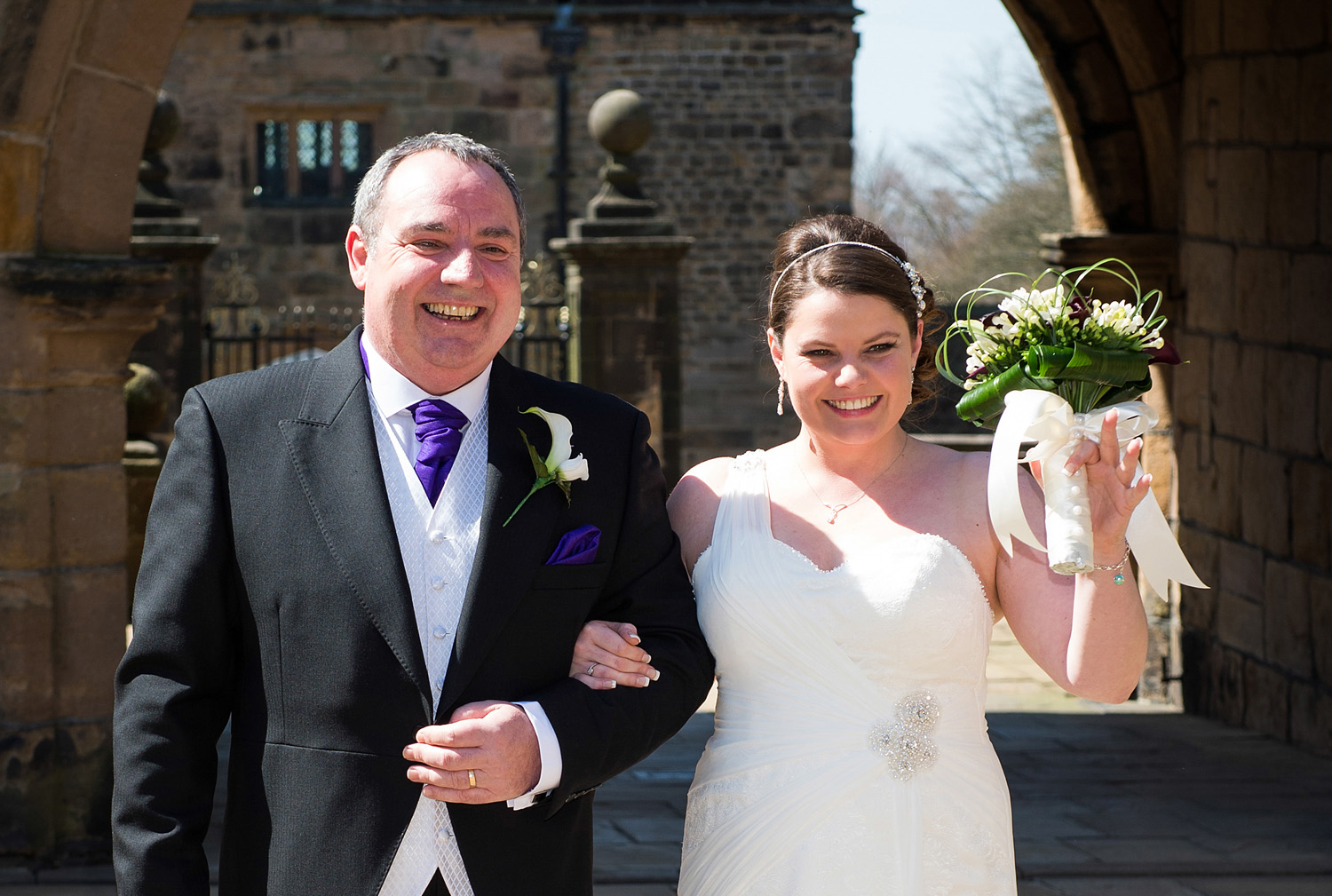 Wedding photograph at Hoghton Tower