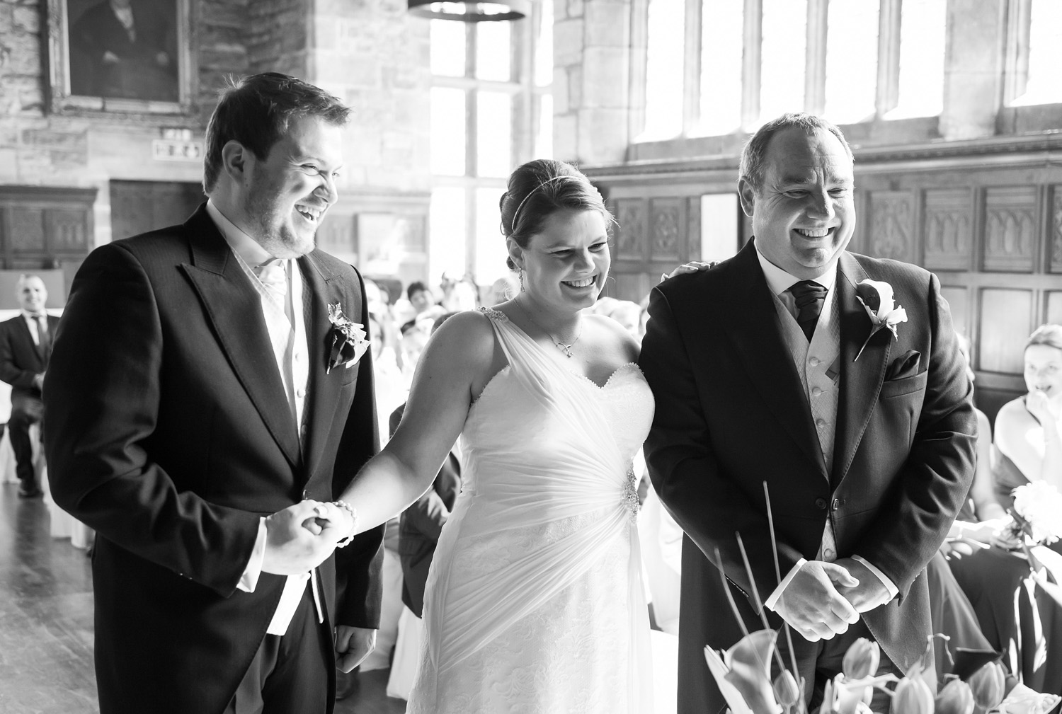 A beautiful wedding photograph at Hoghton Tower